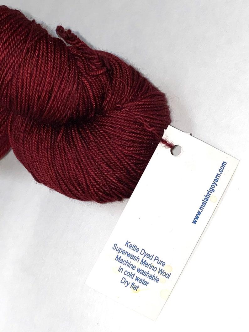 1 Skein of Malabrigo Sock Weight Washable Wool Yarn TizianoRed