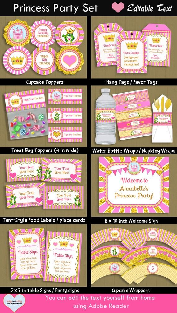 Princess Party Royal Theme Cute Kids Girl Birthday Diy