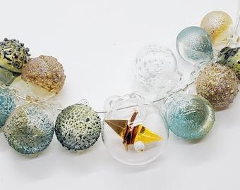 Crane Nest Necklace -blown pyrex bubbles-