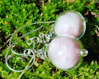 cottoncandy drop earrings