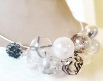 Black and white and grey necklace