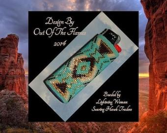 Bead PATTERN Socorro Lighter Cover Peyote Brick Stitch