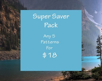 Beading Patterns- Super Saver package 5 for 18 Dollars