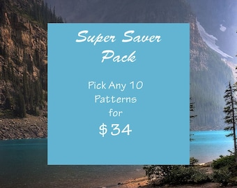 Beading Patterns- Super Saver package 10 for 34 Dollars