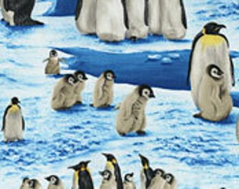 Penguins on Fabric-Fabric With Penguins