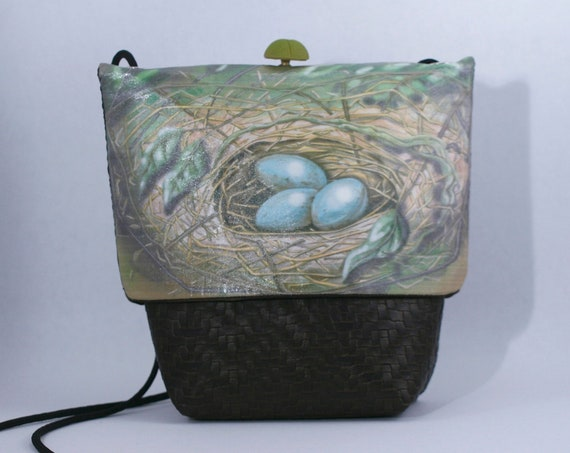 Nest and Eggs Small Grommet Bag