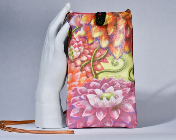 Oriental Flowers - Phone Bag