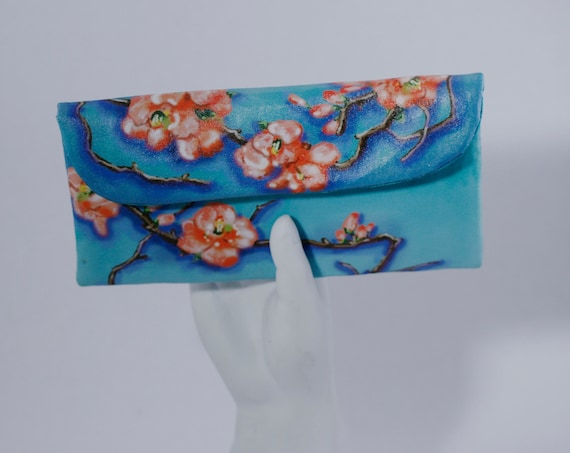 Flowering Quince Small Wallet Clutch