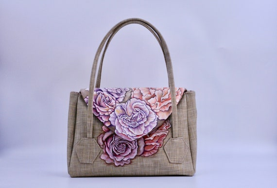 Pale Roses - Medium Overlay Bag