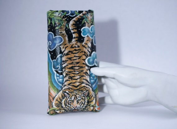 Vertical Tiger  Eyeglass Case