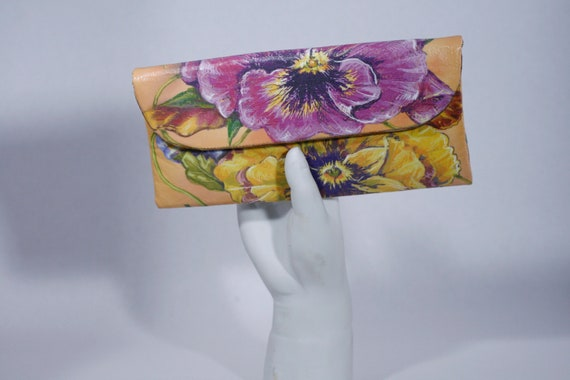 Pansies Small Wallet Clutch