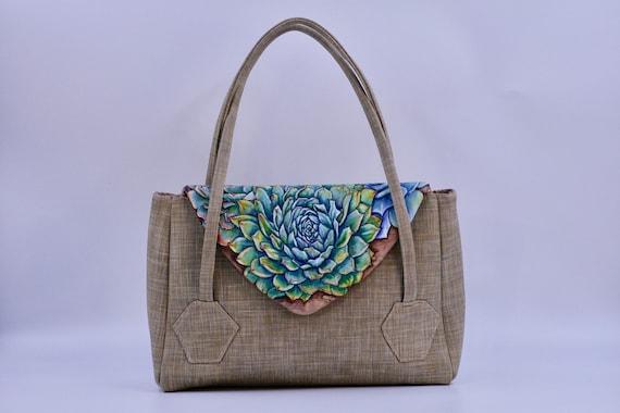 Maureen's Succulents - Medium Overlay Bag