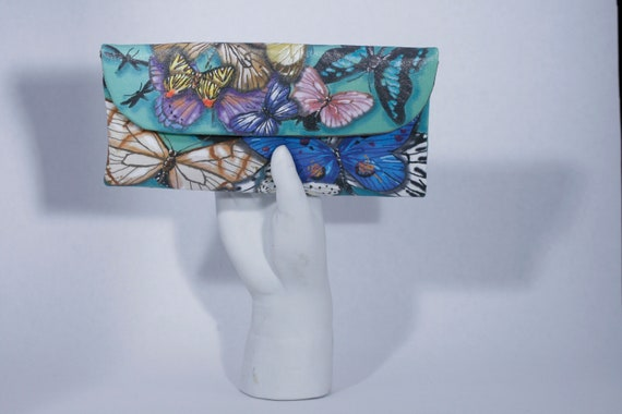 Butterflies Small Wallet Clutch