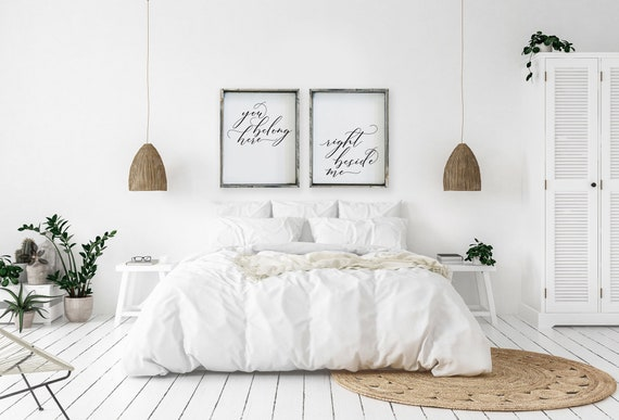 Master Bedroom Farmhouse Signs You Belong Here Right Beside Etsy