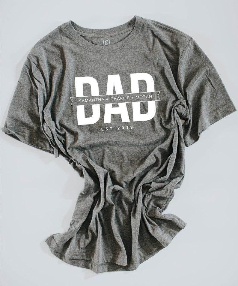 f6c6da2ba Custom Dad Tee Shirt Dad Tee Father's Day Shirt Custom | Etsy