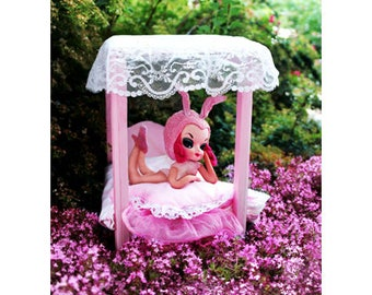 playboy bunny pose doll print 5 x 7 MISS LULLABY