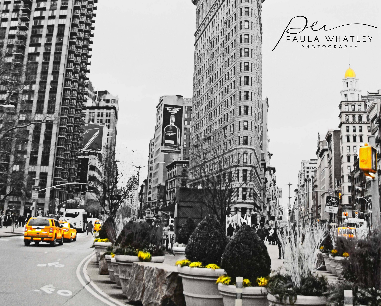 black white NYC yellow taxi NYC taxi black white flatiron