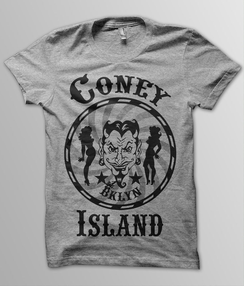 aa1705107 Coney Island Devil Tee | Etsy