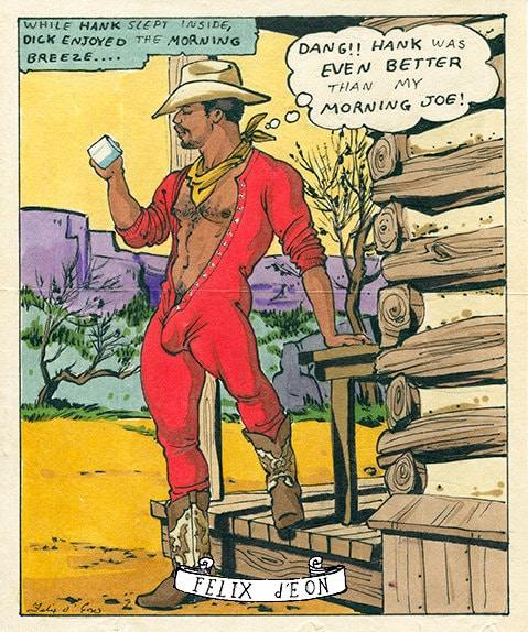 Morning Joe Gay 50S Cowboy Comic Vintage Male Pin Up Gay -6593