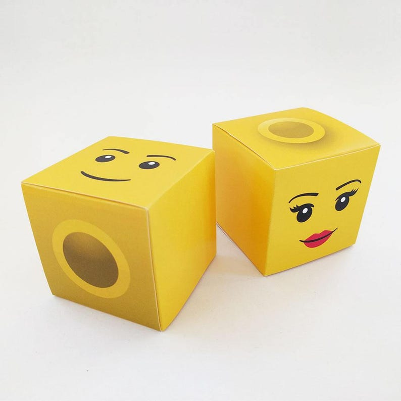 DIY Printable Lego Head Classic Treat Box