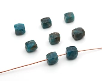 semiprecious stone average 28mm long opaque blue green freeform teardrop 3 pcs flat chrysocolla beads