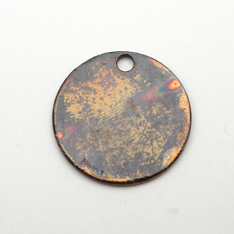 22mm small flat handmade etched metal jewelry supply Round letter Y charm