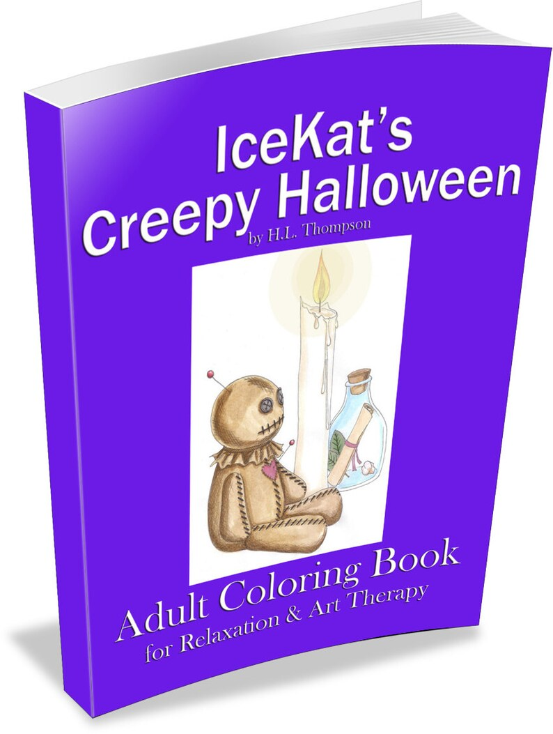 IceKat's Creepy Halloween Adult Coloring Book for image 0