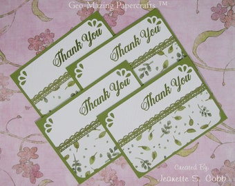 Stampin'Up English Garden Thank You Note Cards Set of 4 by Jeanette S. Cobb