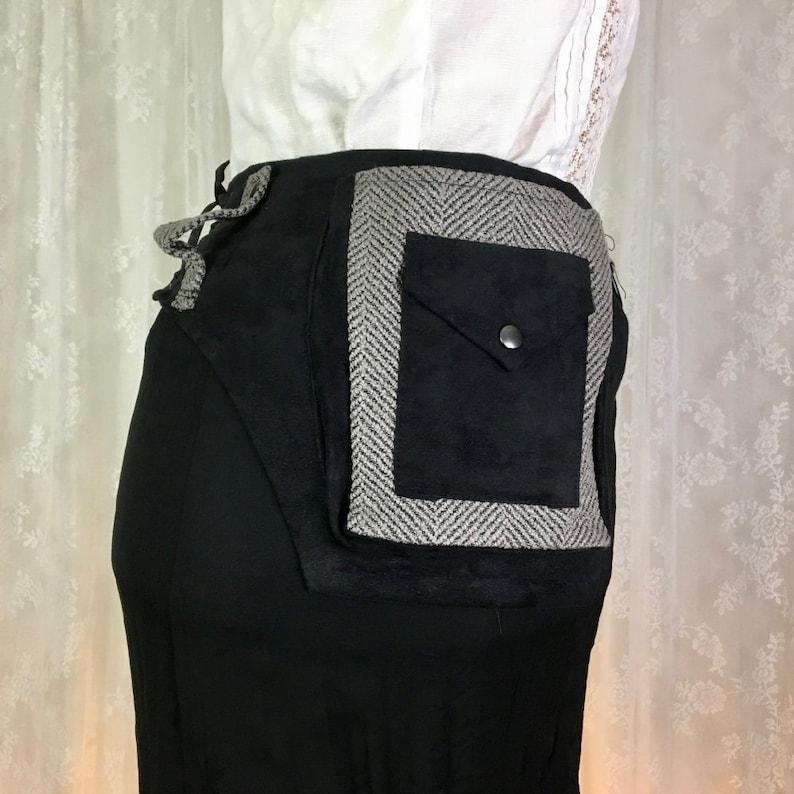 Extra Small pocket belt utility belt XS Ready to ship pocket belt hip holsters black canvas utility belt bum bag festival belt