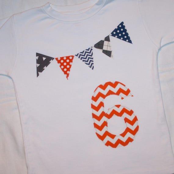 Boys 6th Birthday Number 6 Shirt Size White Short Sleeve