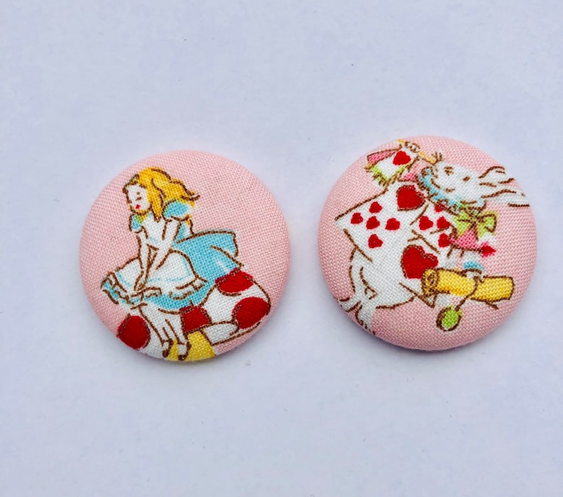 Alice in Wonderland Magnets  Set of 2. Lewis Carroll image 0