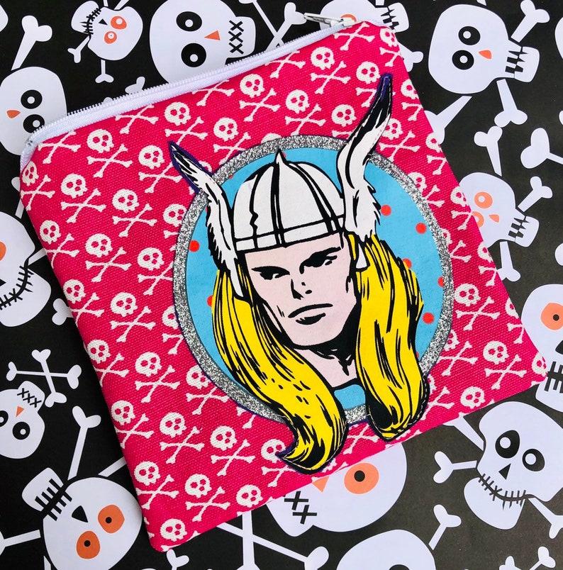Thor Zipper Pouch  God of Thunder Superheroes Comic Books. image 0