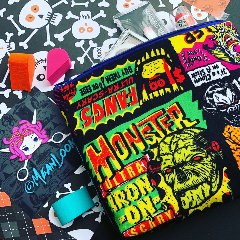Monster Masks Cosmetic Bag: Halloween Catalog Print Killer image 0