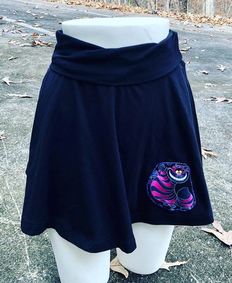 SALE Cheshire Cat Skater Skirt: Extra Small. Alice in image 0