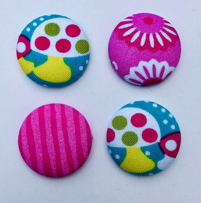 Mushrooms and Flowers Magnets  Set of 4. Nature Outdoors. image 0