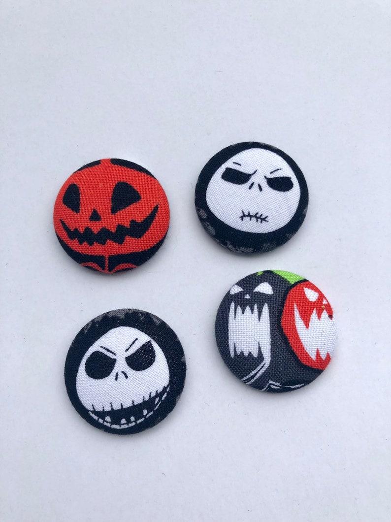 Nightmare Before Christmas Magnets  Set of 4. Halloweentown image 0