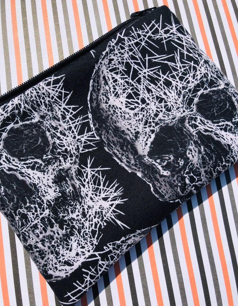 Freak Out Skulls Zipper Pouch: Halloween  Goth Michael image 0