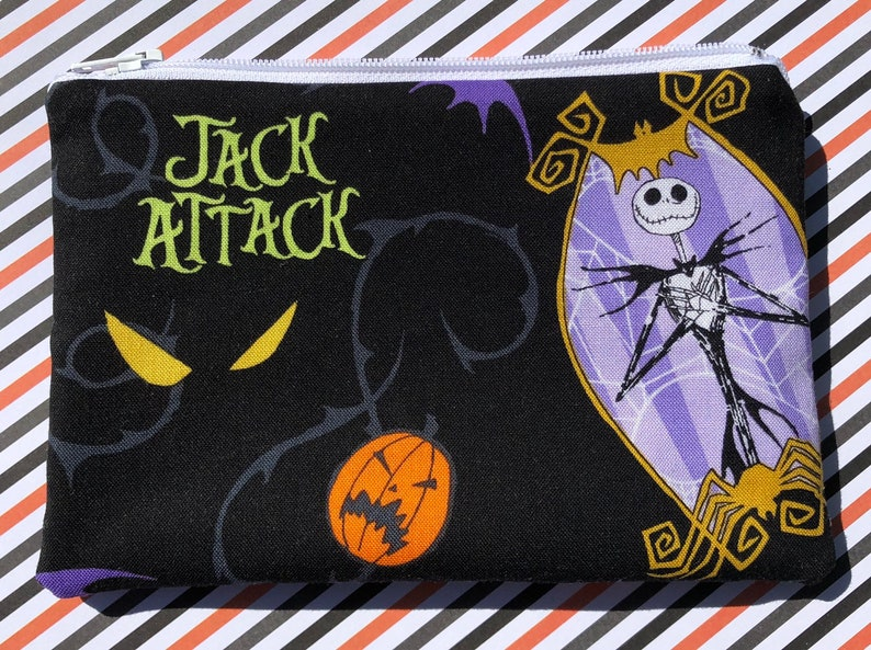 Jack Skellington Zipper Pouch: Nightmare Before Christmas image 0