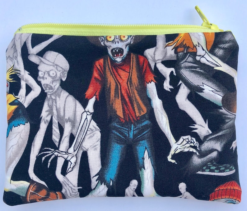 SALE Zombie High Zipper Pouch: Alexander Henry Creepy image 0