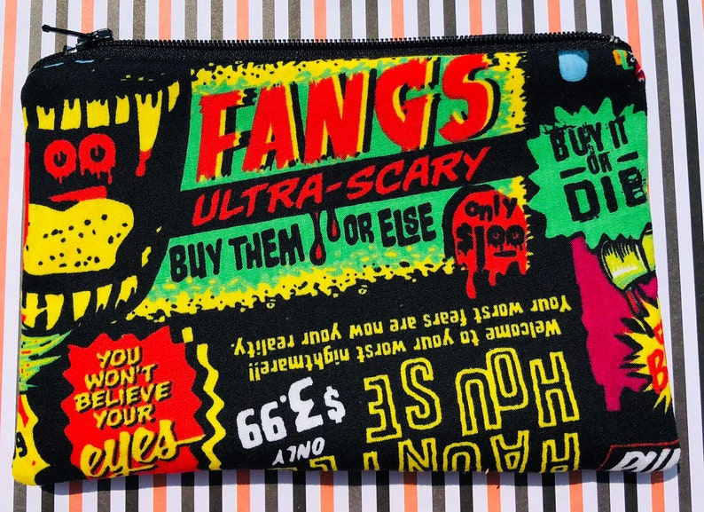 Halloween Catalog Zipper Pouch: For Horror Fans Ultra Scary image 0