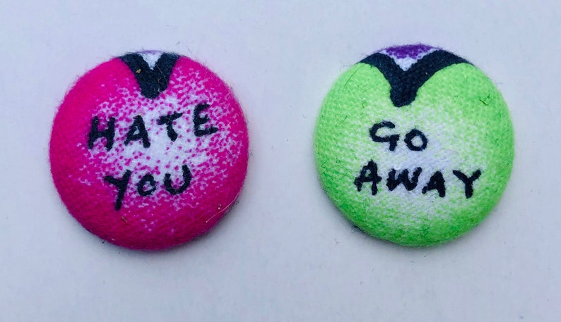 Anti-Valentine's Day Magnets  Set of 2. Candy Heart image 0