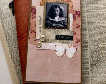 "Travelers Notebook/Midori Style Journal Insert ""With Love"""