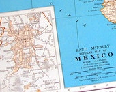 Items similar to Map of Mexico, Map of Western Mexico - 1936 Vintage ...