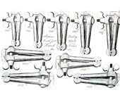 18th - 19th Century Tools - Round Joint Hand Vices, Table Bick Irons, Screw Tail, Workmans Vices - 1993 Vintage Book Page - 9.5 x 7.5