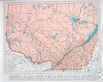 Items similar to quebec map yukon map canada 1936 vintage map 1944 vintage map quebec map ontario map 2 sided world atlas book page 11 x 14 gumiabroncs Images