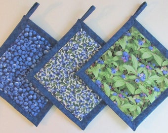 Charmant Blueberry Potholders, Blueberry Kitchen Theme, Blueberry Kitchen Decor, Blueberry  Kitchen Accessories   Set Of 3