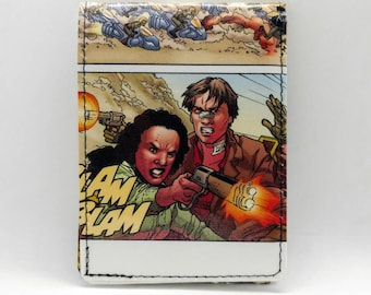 Sewn Comic Book Wallet - Firefly / Serenity - Captain Mal and Zoe