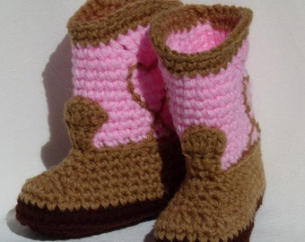 Baby Cowgirl Boots pink choose a size