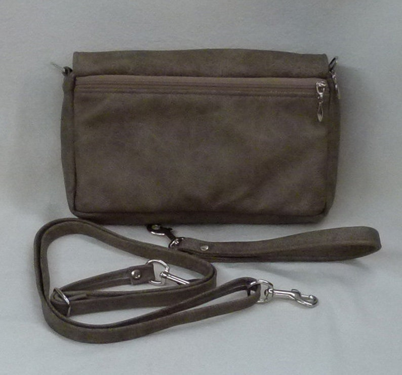 Waist Bag Shoulder Bag Cross body Bag with detachable Lanyard and detachable strap in light brown outlaw Leather by Grizzly Creek