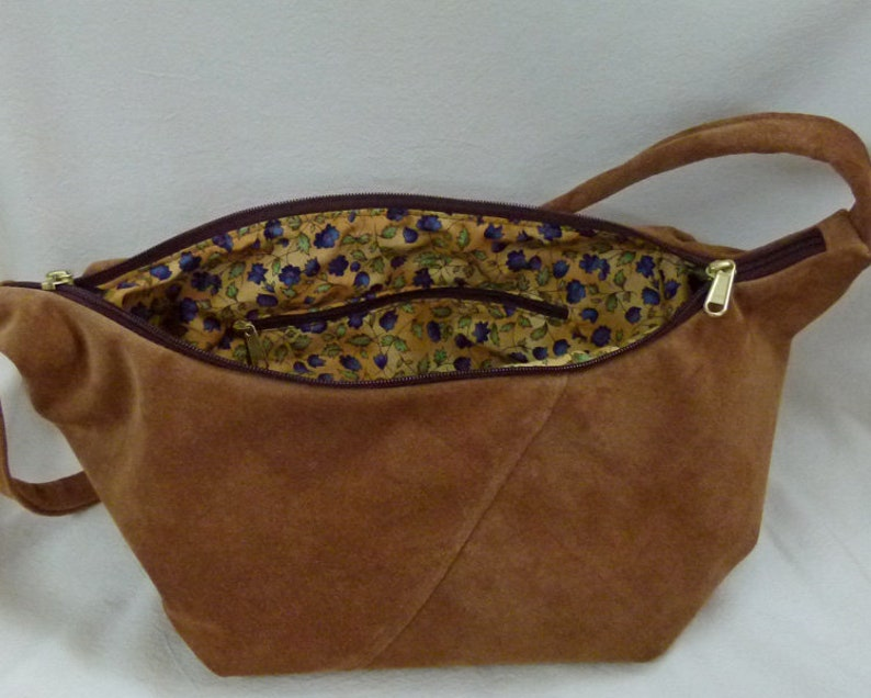 d4c89e7c7b3d Velvet Suede Small Hobo Sling Bag by Grizzly Creek -hide